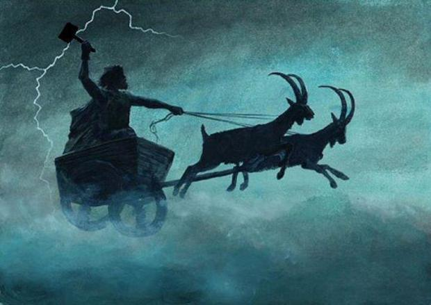 thor-mjolnir-hammer-chariot-goats-norse-mythology-gods